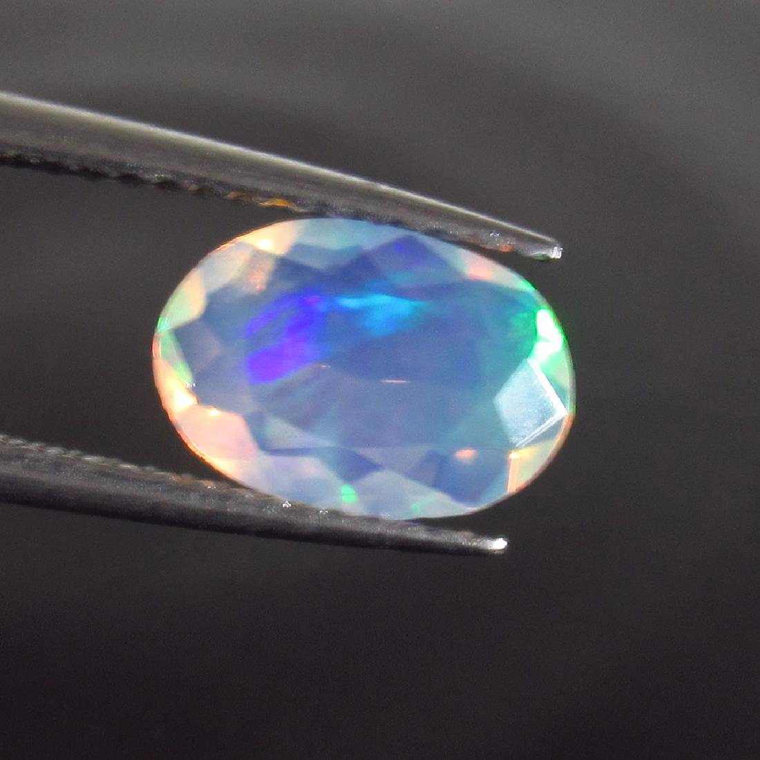 0.93 Ct Genuine Ethiopian Multi-Color Fire Faceted Opal