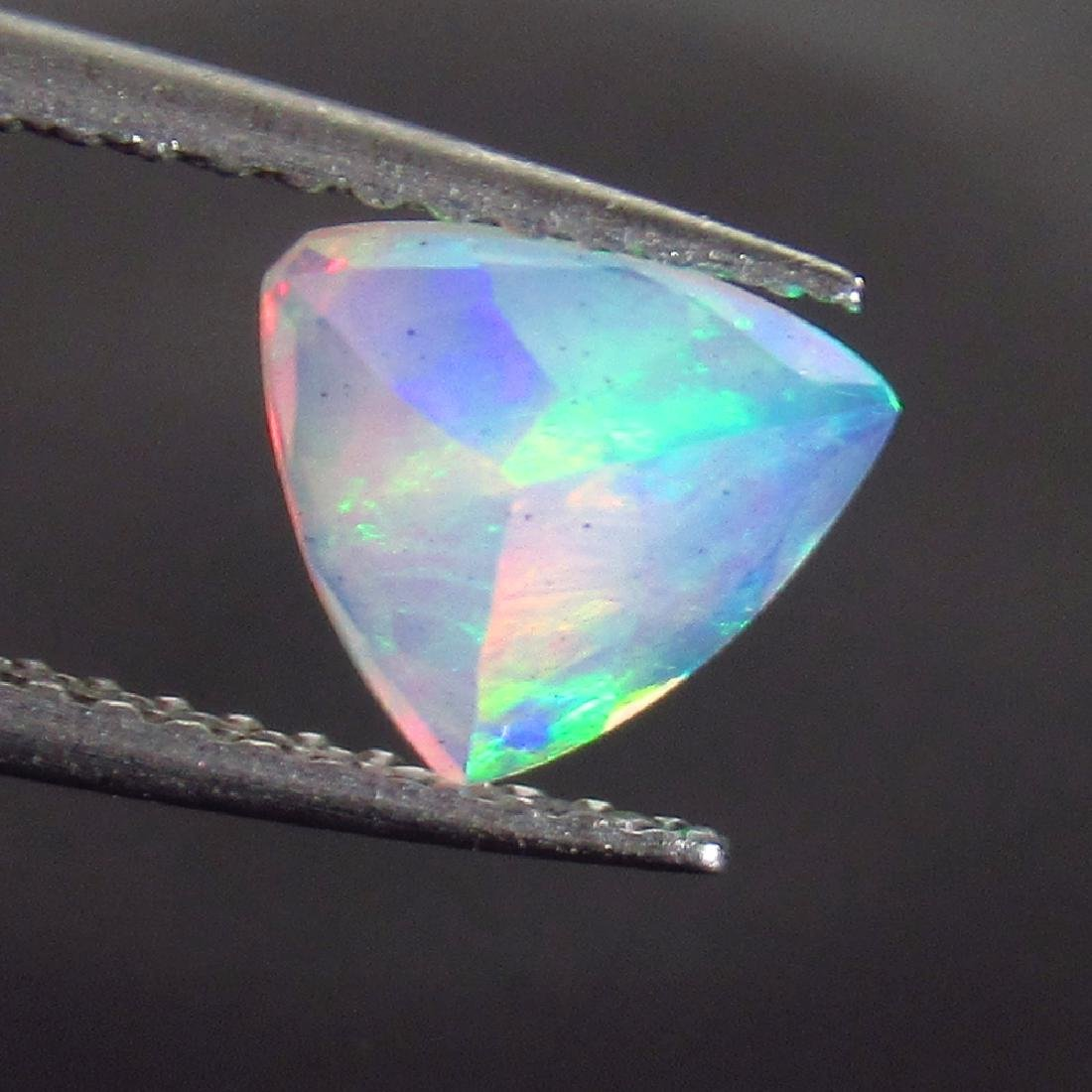 0.69 Ct Genuine Ethiopian Multi-Color Fire Faceted Opal - 2