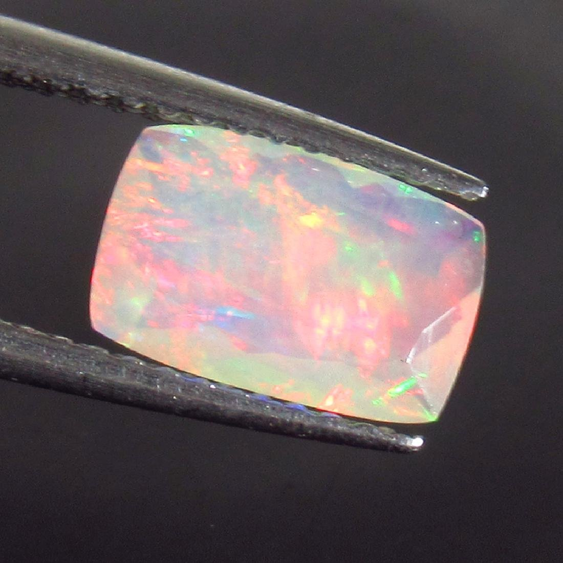 0.89 Ct Genuine Ethiopian Multi-Color Fire Faceted Opal