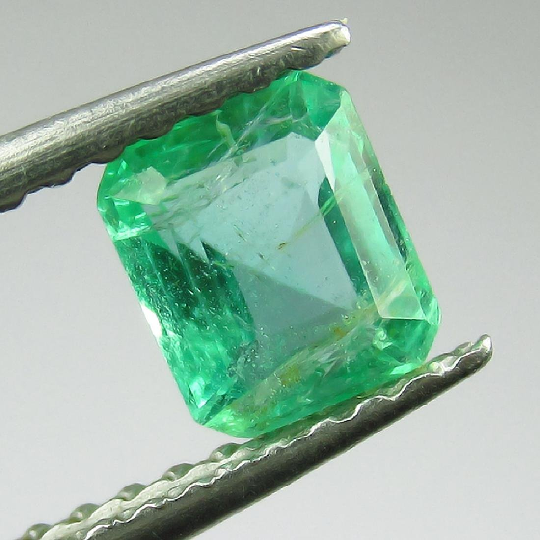 0.54 Ct Genuine Loose Zambian Emerald Excellent Octagon