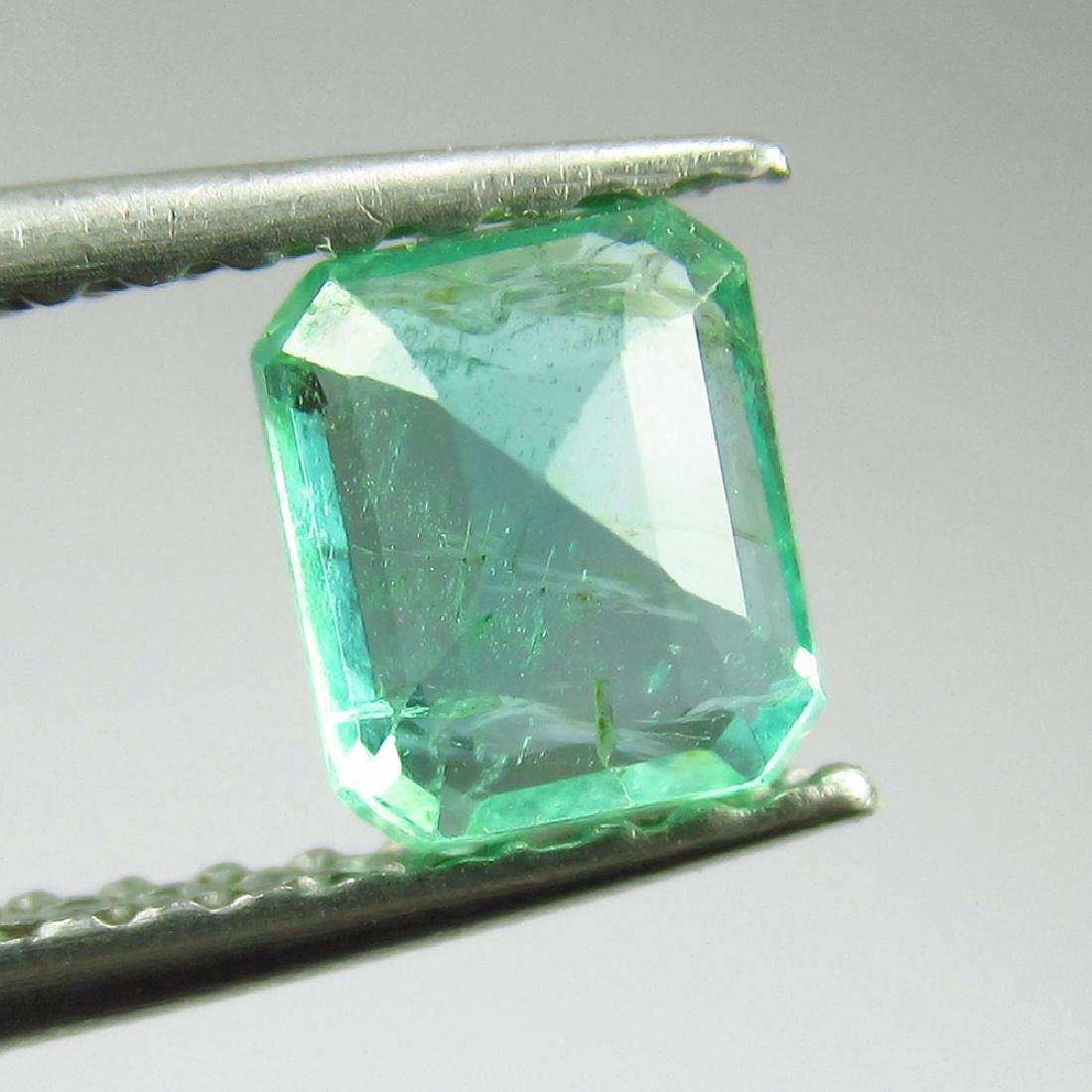 0.54 Ct Genuine Loose Zambian Emerald Excellent Octagon - 2