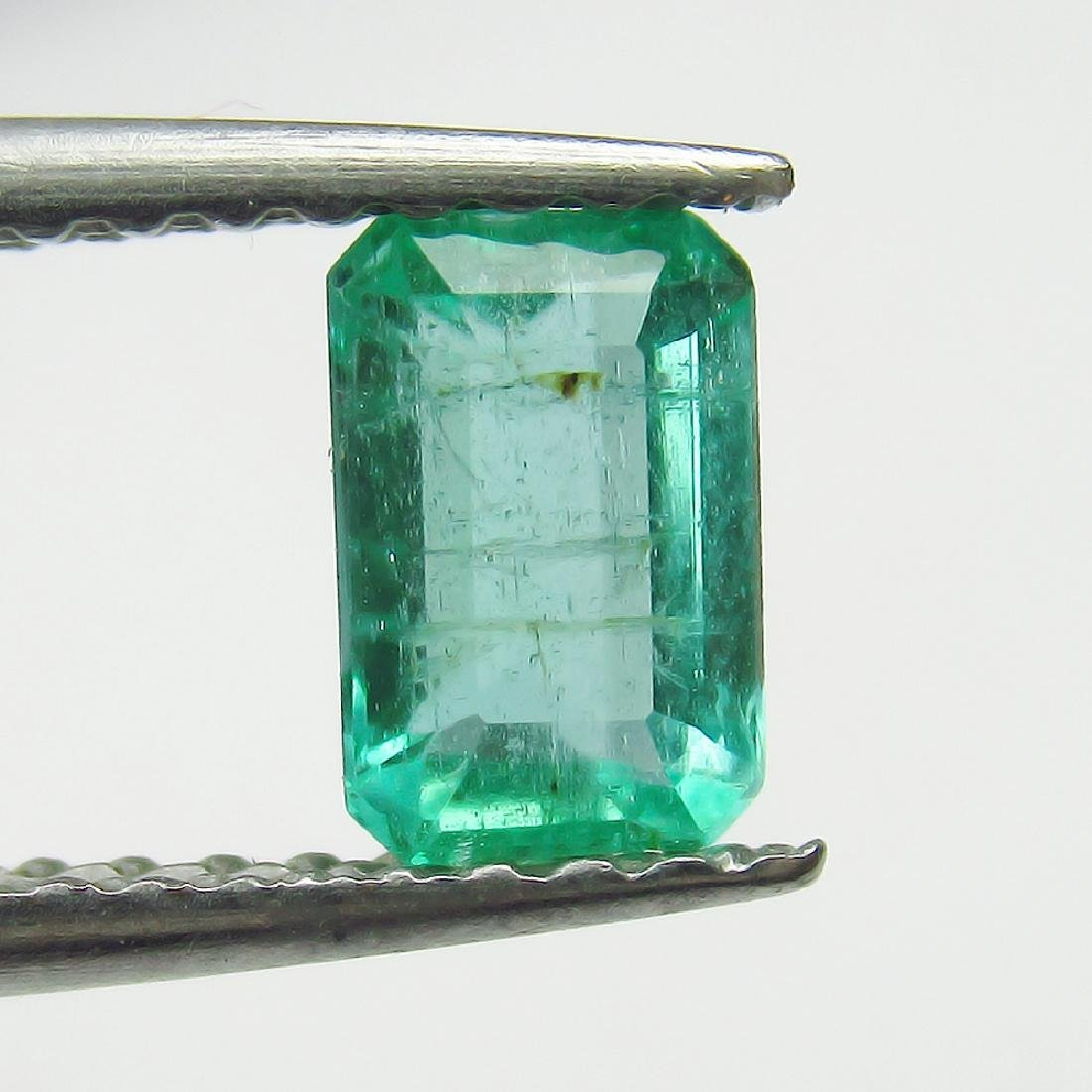 0.57 Ct Genuine Loose Zambian Emerald 6X4 mm Octagon