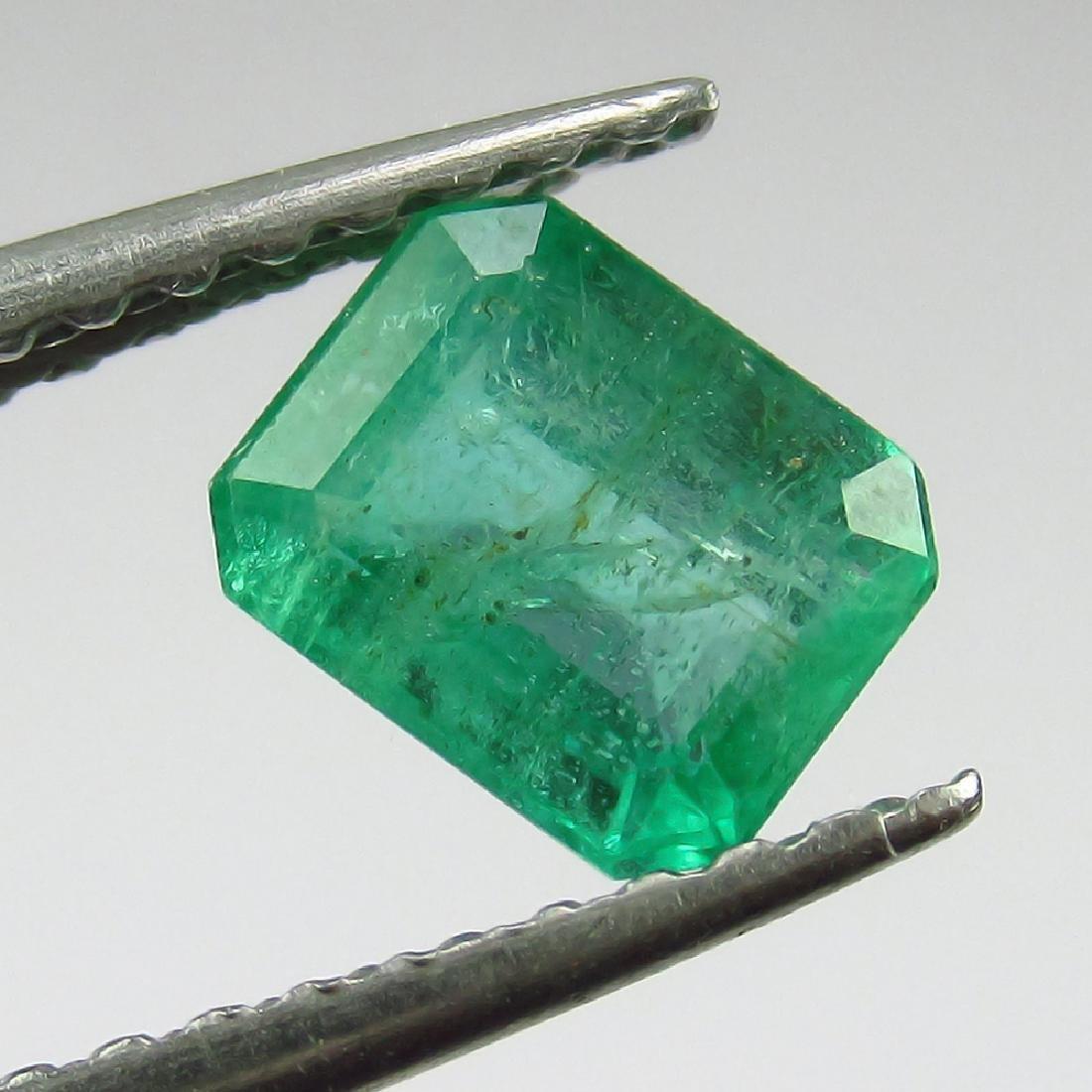 0.68 Ct Genuine Loose Zambian Emerald Very Good Octagon