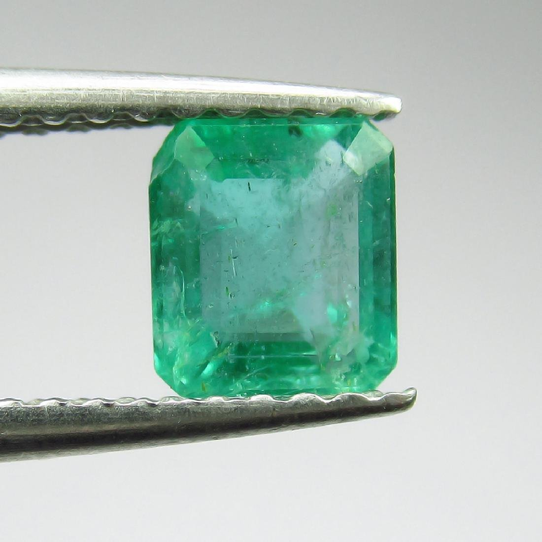 0.76 Ct Genuine Loose Zambian Emerald Excellent Octagon