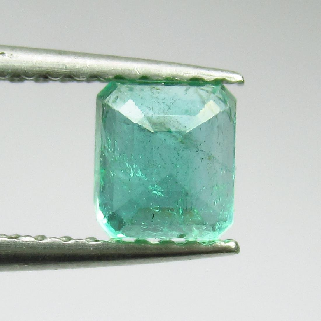 0.76 Ct Genuine Loose Zambian Emerald Excellent Octagon - 2