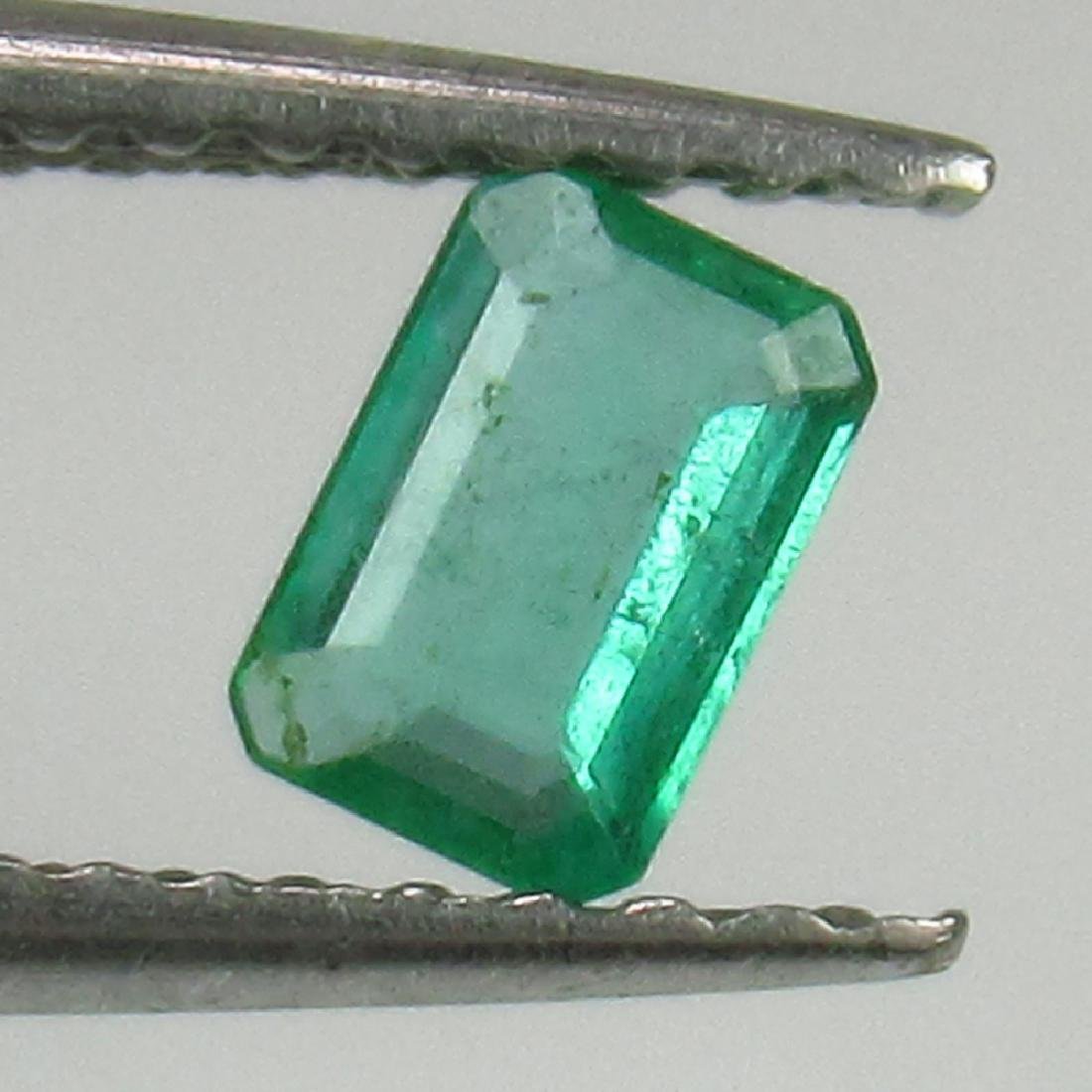 0.24 Ct Genuine Loose Zambian Emerald Excellent Octagon