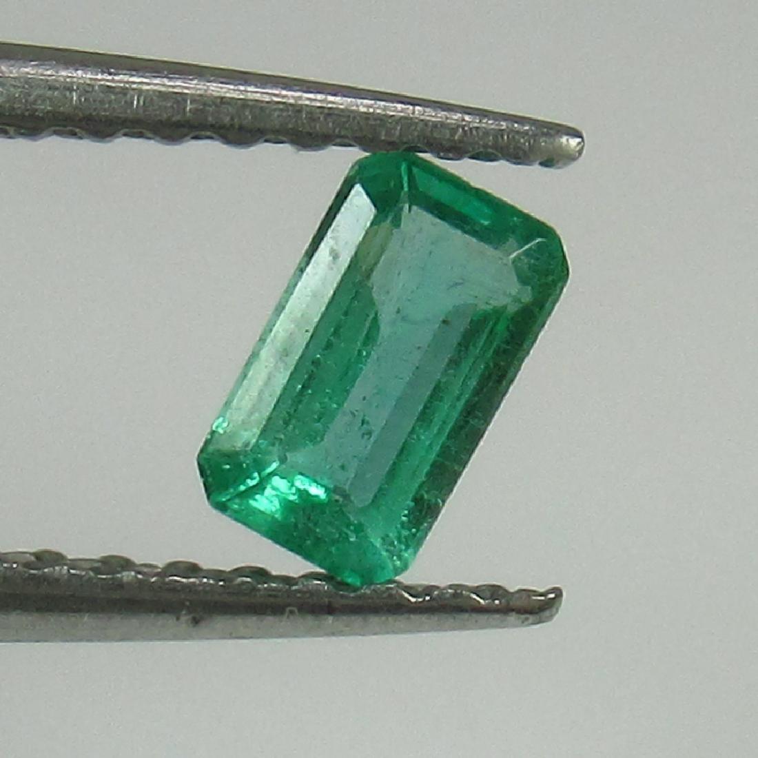 0.28 Ct Genuine Loose Zambian Emerald 5X3 mm Octagon