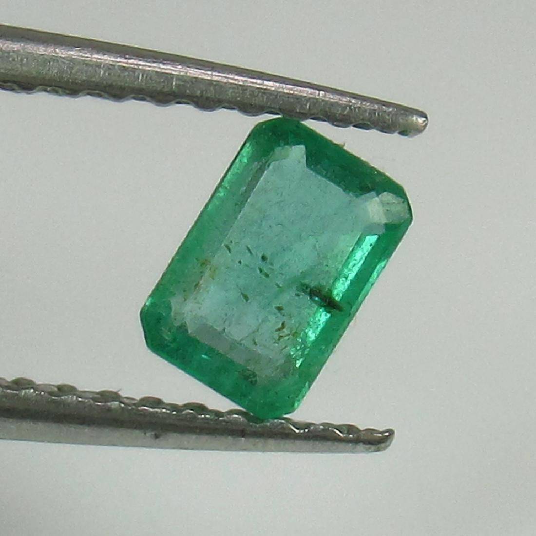 0.33 Ct Genuine Loose Zambian Emerald Excellent Octagon