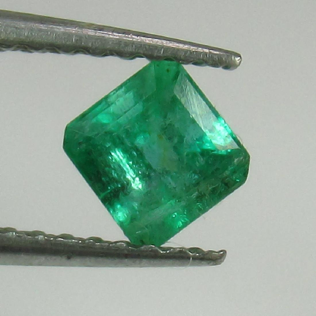 0.47 Ct Genuine Loose Zambian Emerald Excellent Octagon