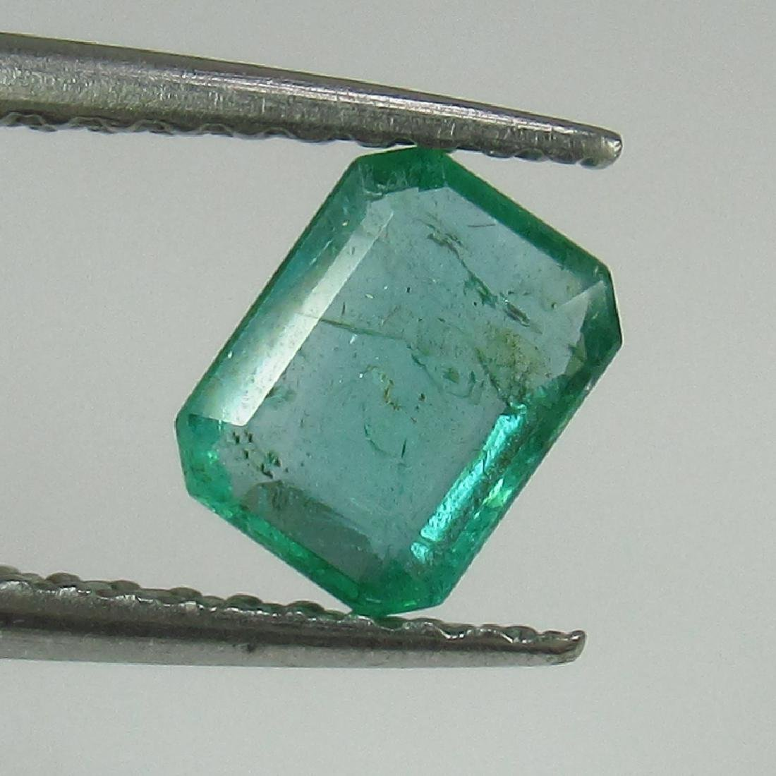 0.53 Ct Genuine Loose Zambian Emerald Excellent Octagon
