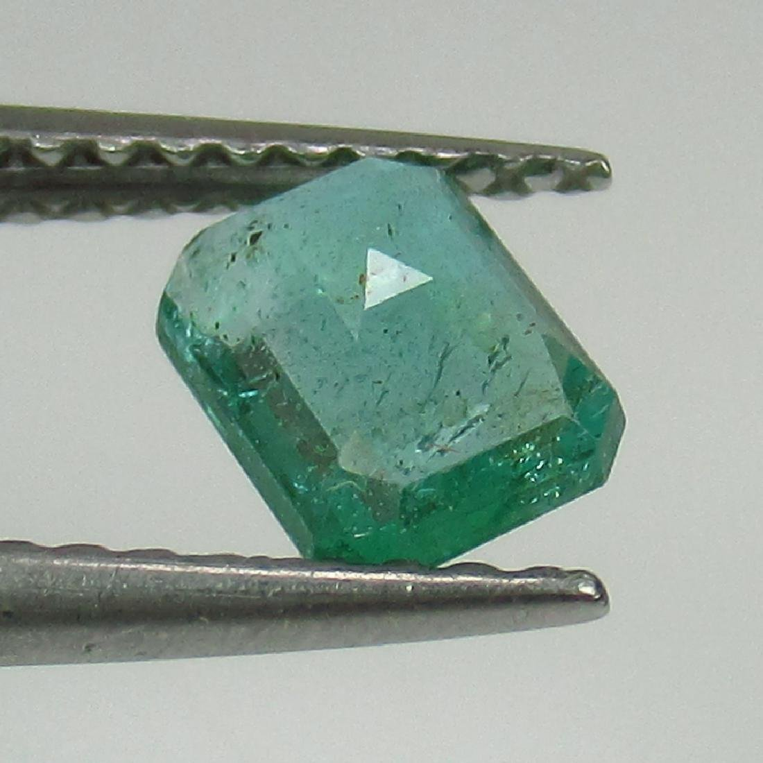 0.53 Ct Genuine Loose Zambian Emerald Excellent Octagon - 2