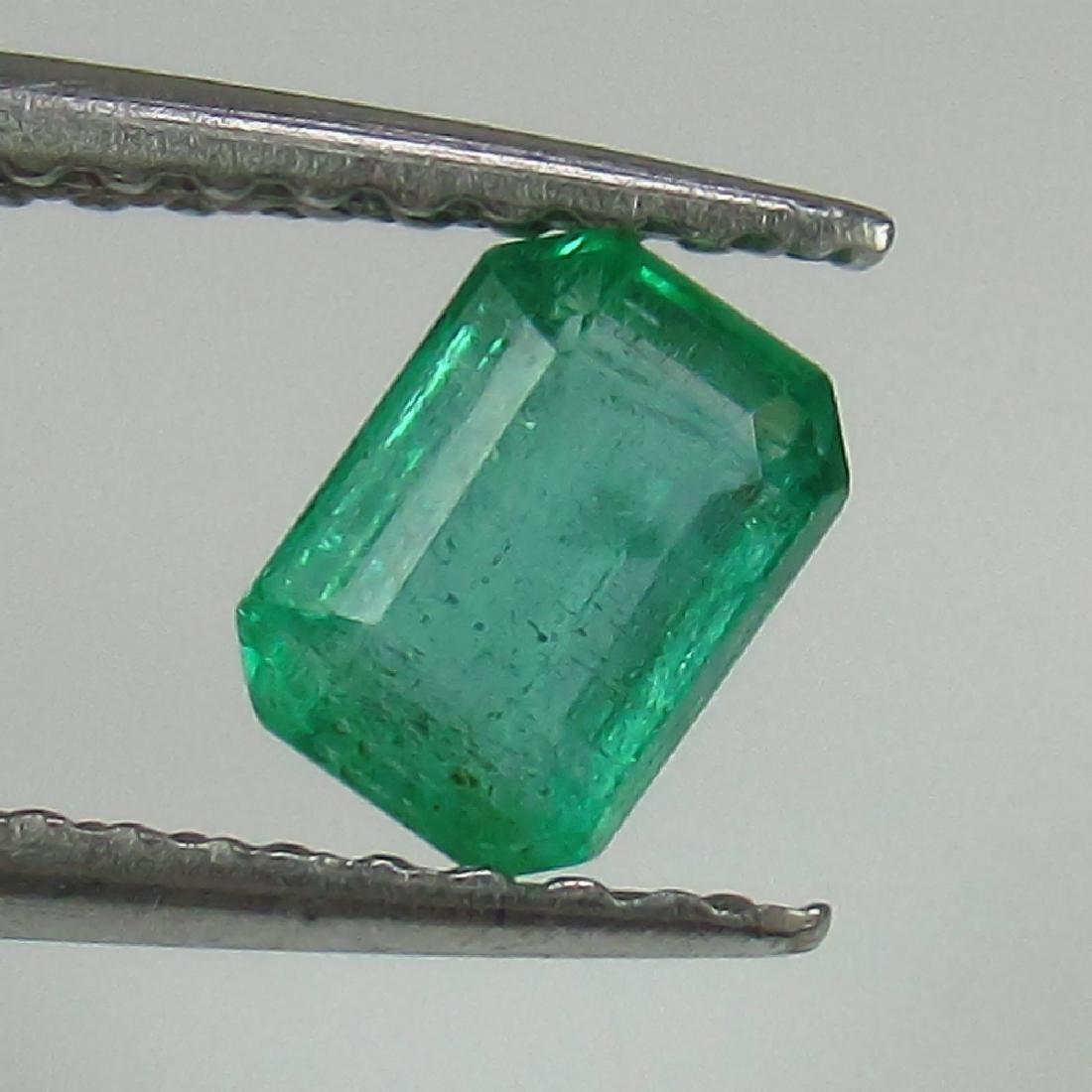 0.58 Ct Genuine Loose Zambian Emerald 5.5X4 mm Octagon