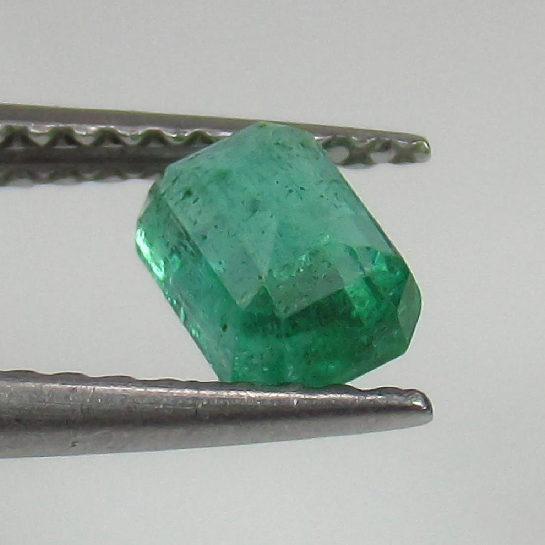 0.58 Ct Genuine Loose Zambian Emerald 5.5X4 mm Octagon - 2