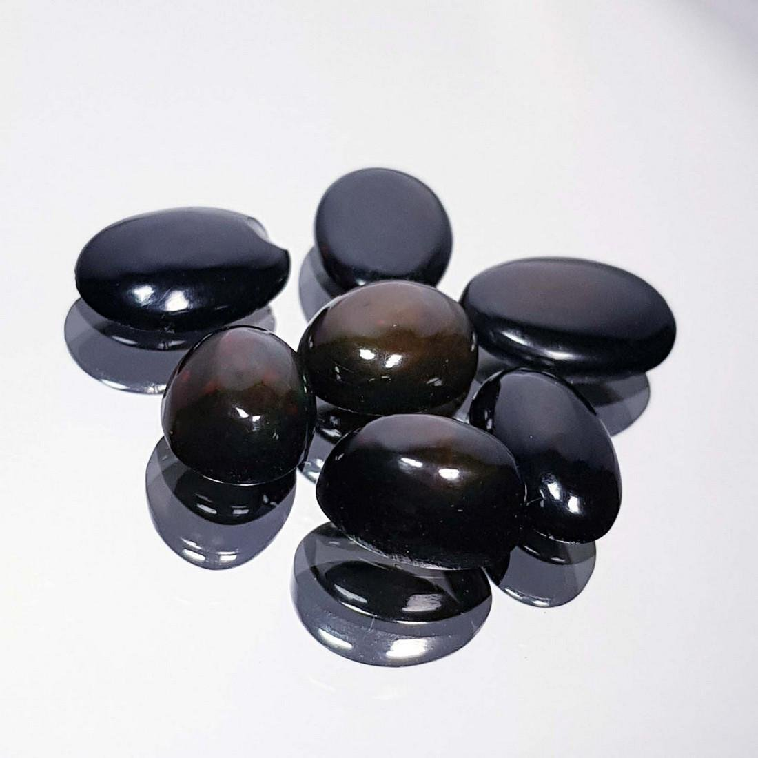 7 Pcs Of Black Opal - 7.24 ct - 4