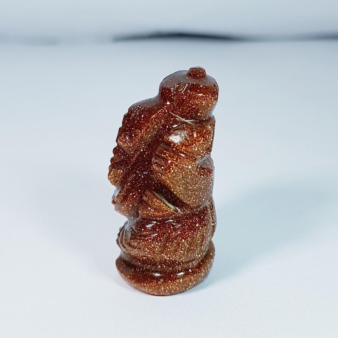 Sun Stone Lord Ganesha Carving - 25.22 ct - 3