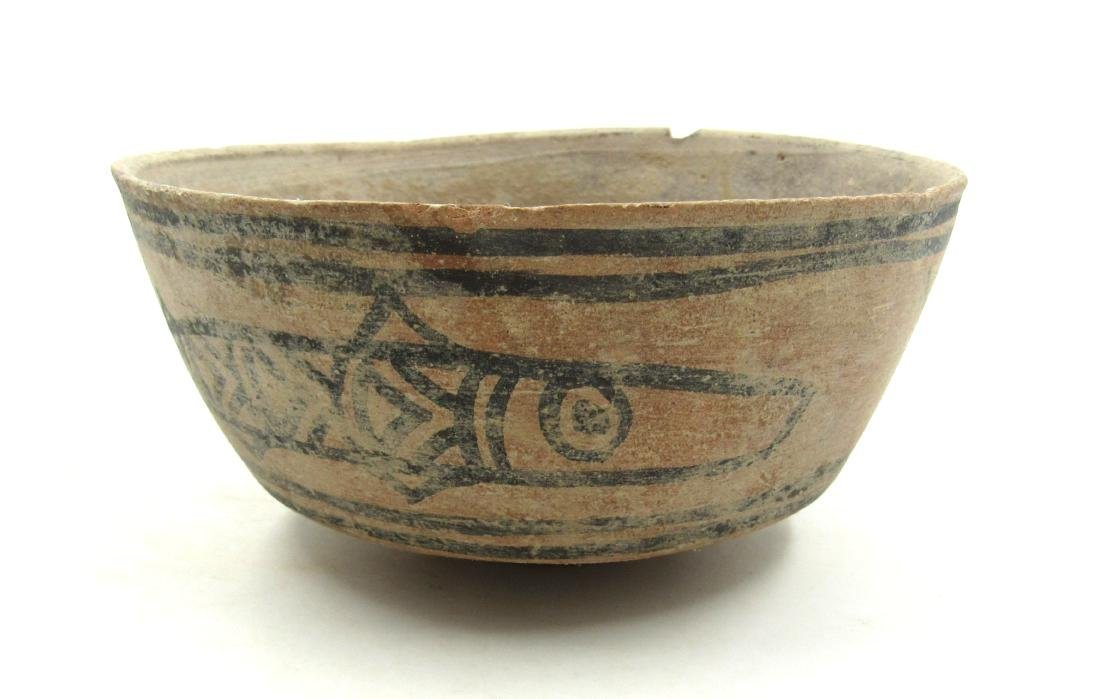 Ancient Indus Valley Terracotta Bowl with Fish
