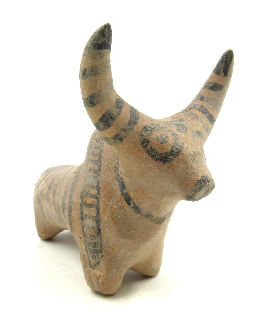 Ancient Indus Valley Terracotta Zebu Bull Idol