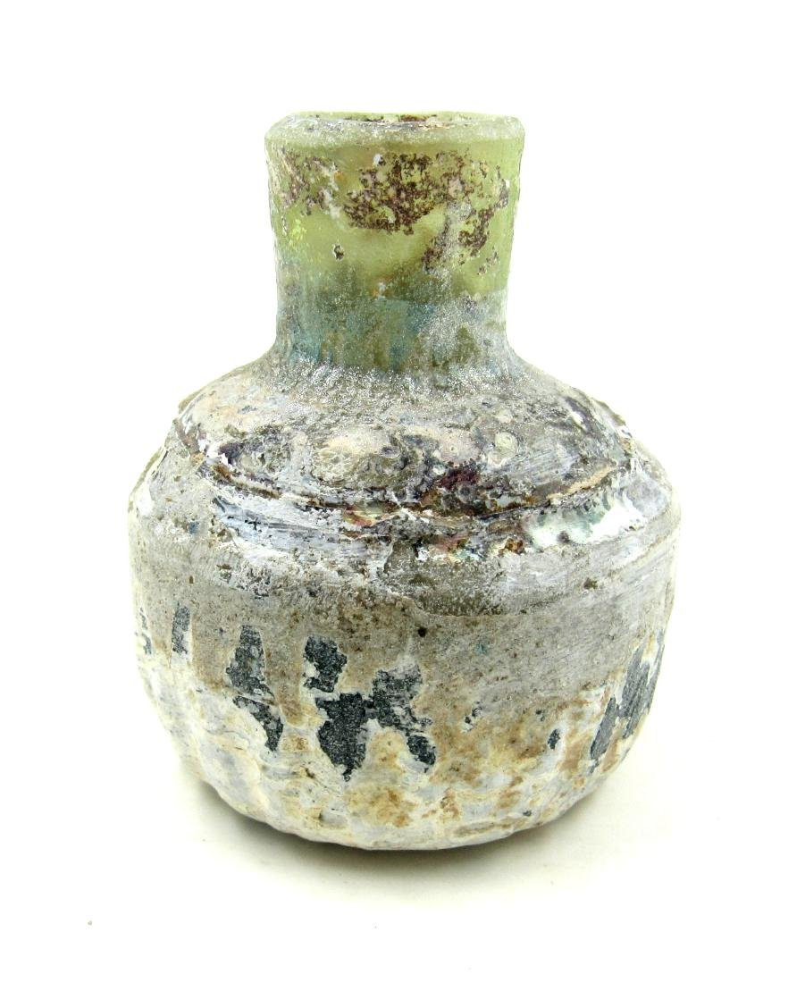 Ancient Roman Glass Cosmetics Flask