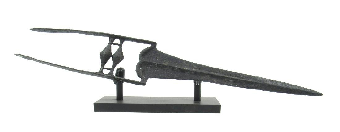 Medieval Indian Iron Katar - Push Dagger - on Stand - 2