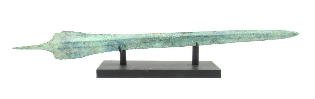 Ancient Greek Bronze Sword on Stand - 2