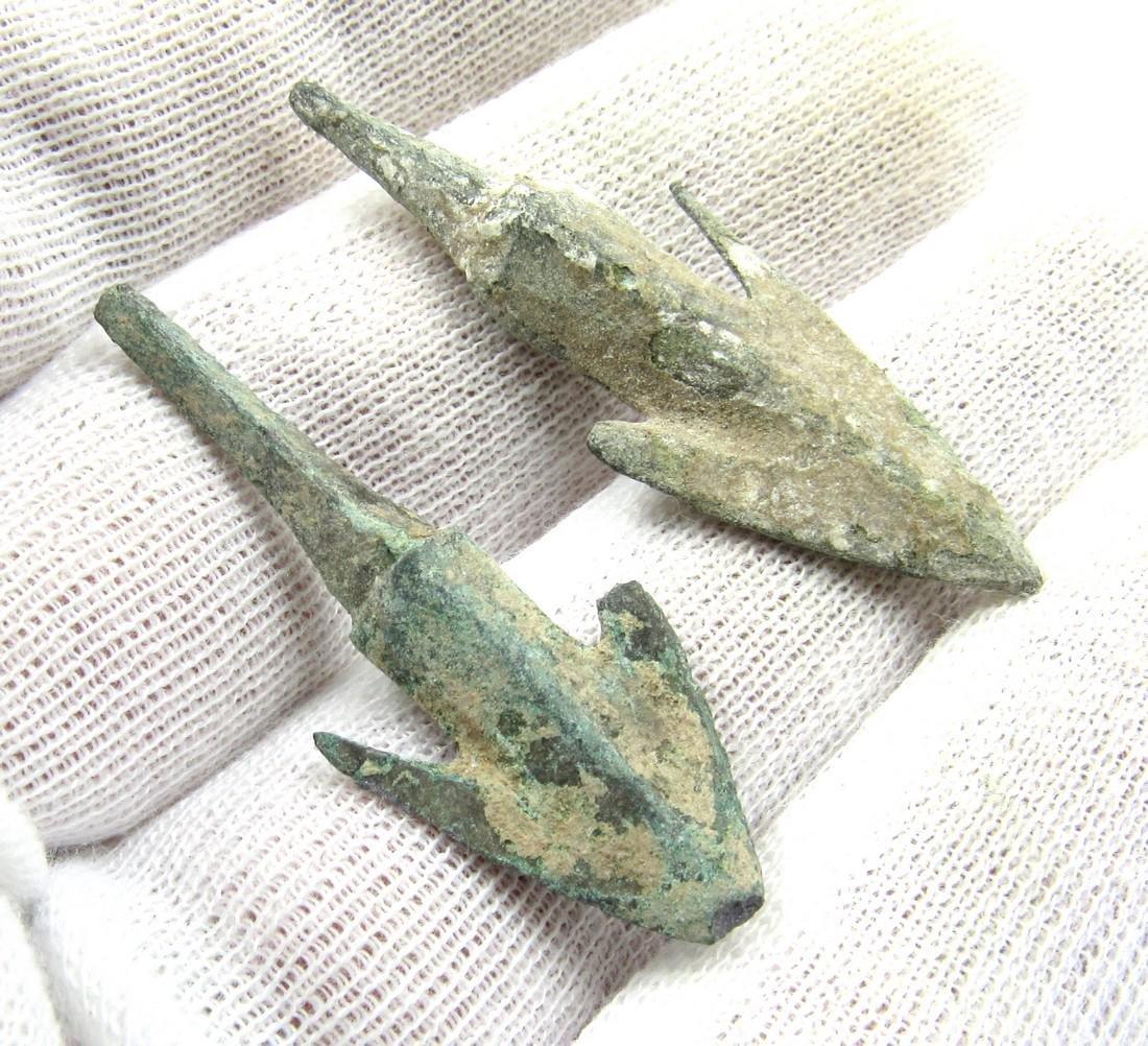 Pair of Ancient Greek Bronze Arrow Heads - 3