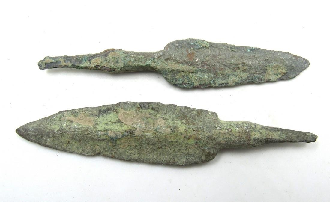 Pair of Ancient Greek Bronze Arrow Heads - 2
