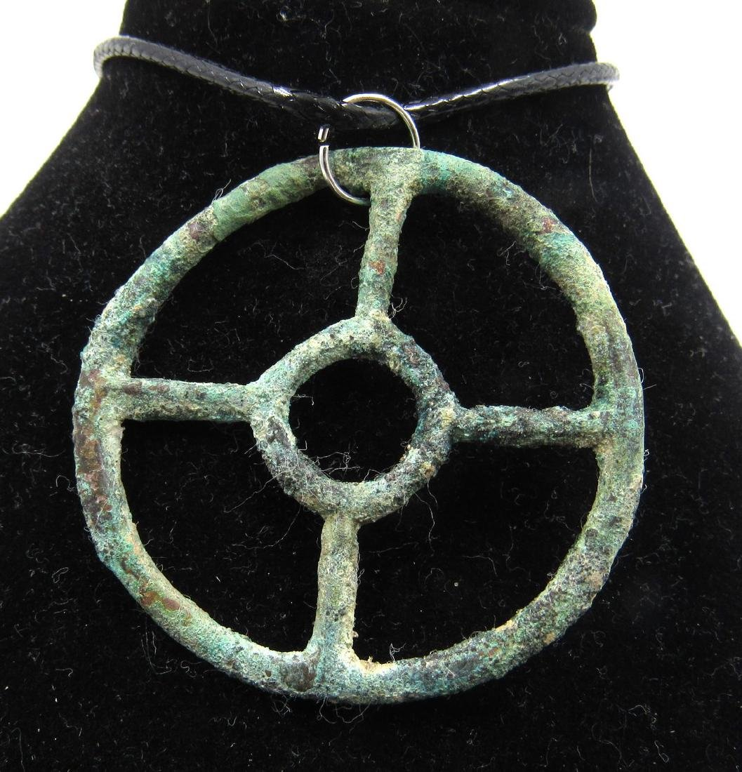 Ancient Bronze Age Sun Amulet - 2