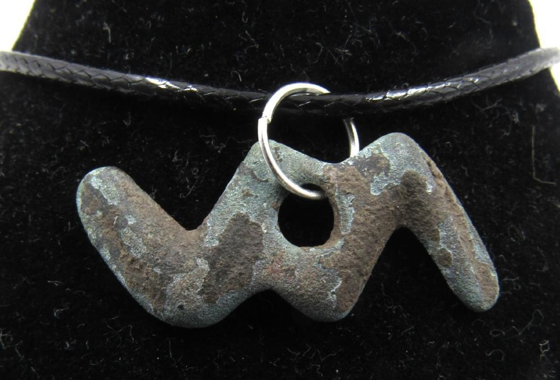 Medieval Viking Era Bronze Thunderbolt of God Thor