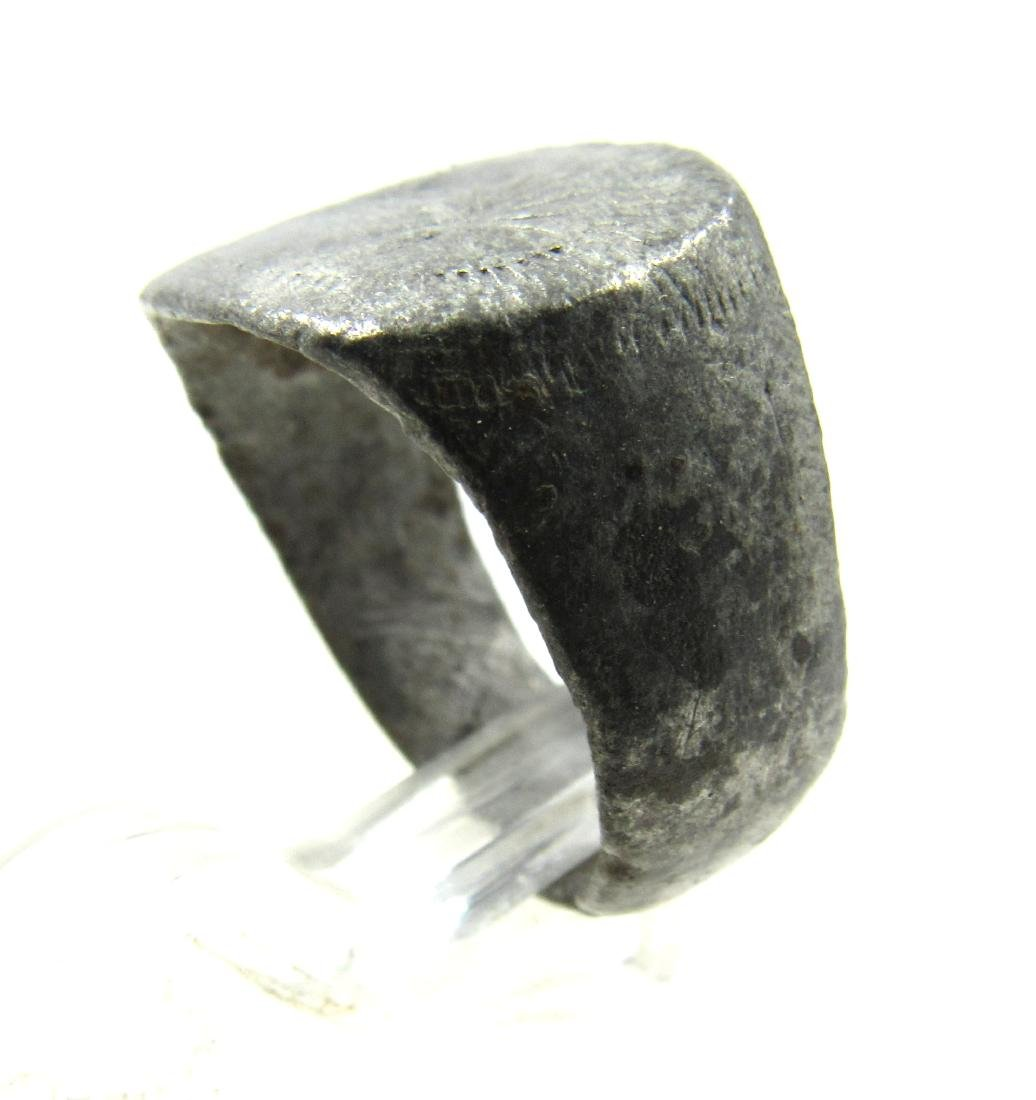 Medieval Viking Era Silver Ring with 2 Stars - 3
