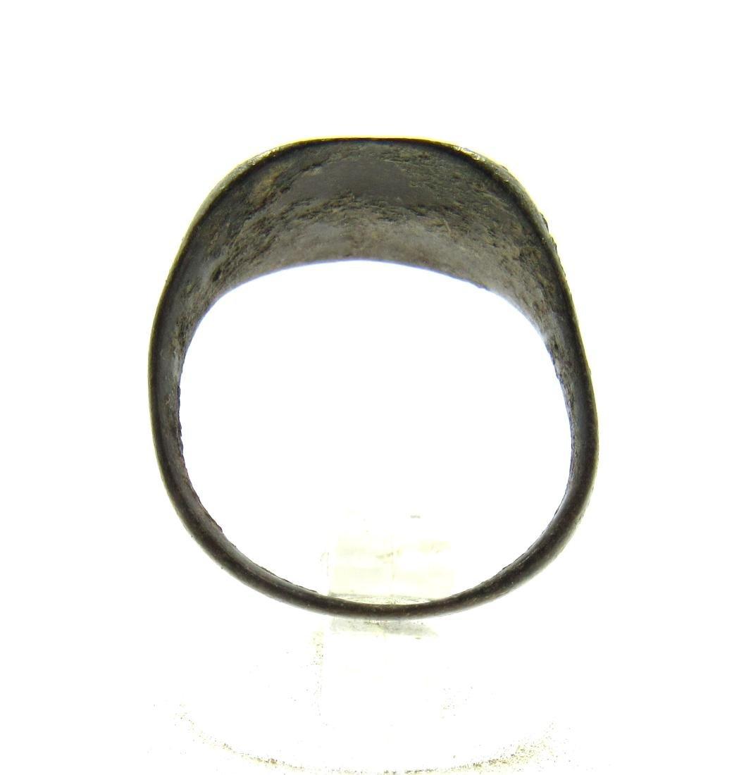 Medieval Viking Era Bronze Ring with Dragon Eye Motif - 4