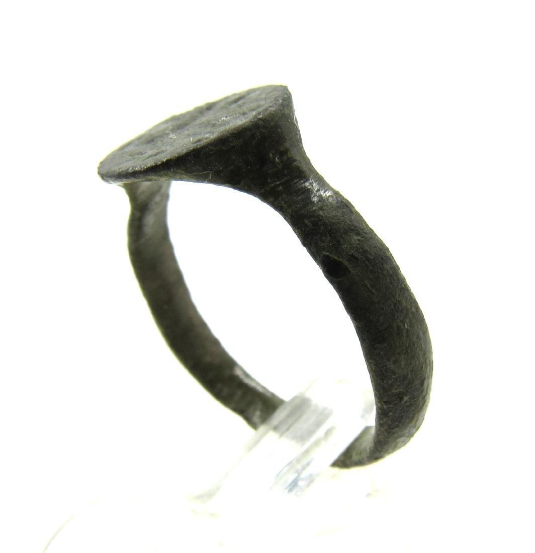 Medieval Viking Era Bronze Ring with Dragon - 3