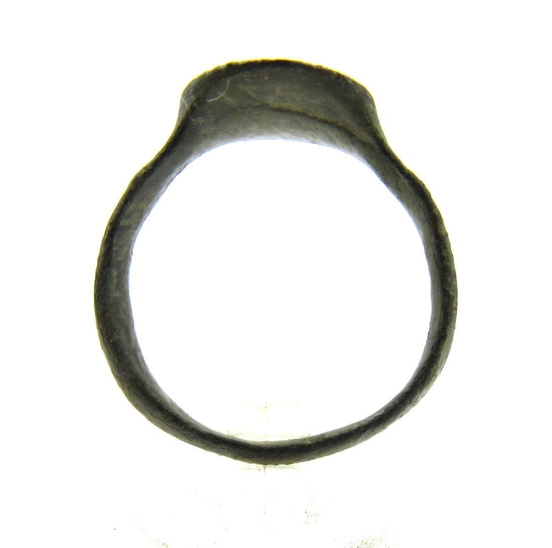 Medieval Viking Era Bronze Ring with Dragon - 4