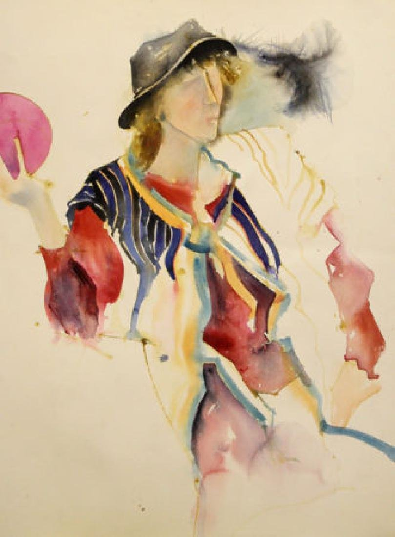 Woman in a Hat Throwing a Ball by Richard Jerzy