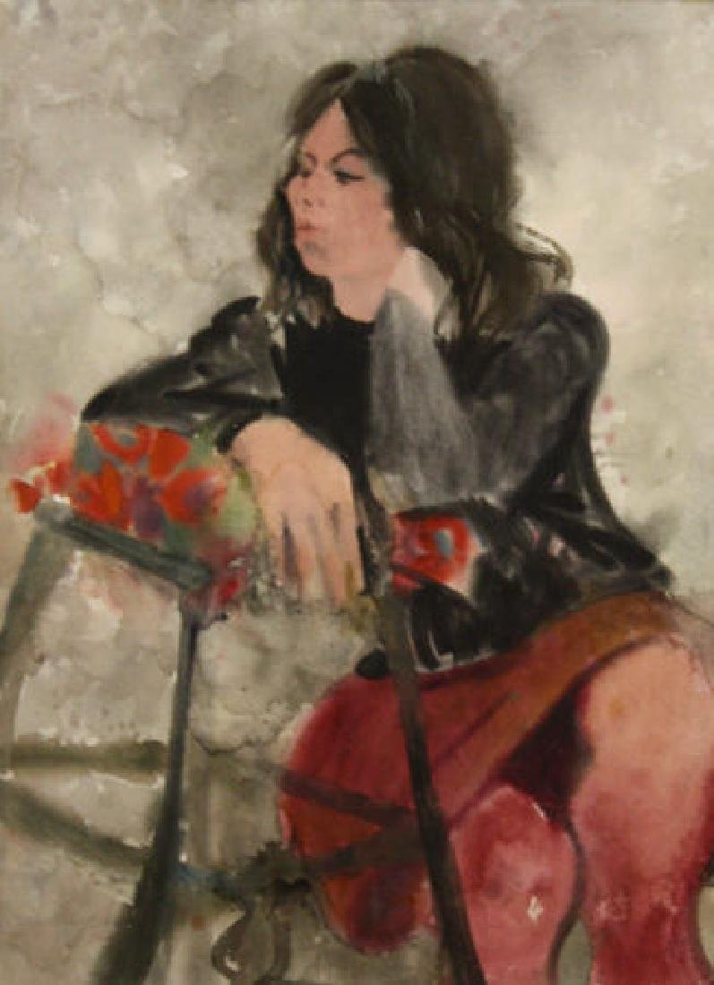Woman in Thought 1964 by Richard Jerzy