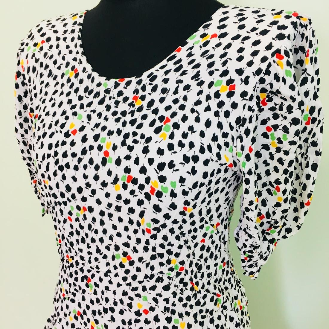 Vintage Women's Day Coctail Dress Size EUR 40 US 10 - 2