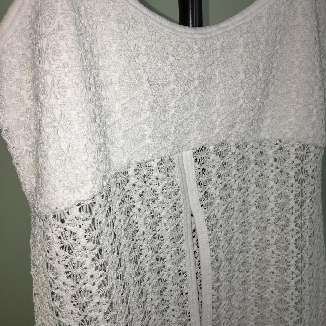 Vintage Women's White Crochet Shirt Blouse Top Size XS - 3