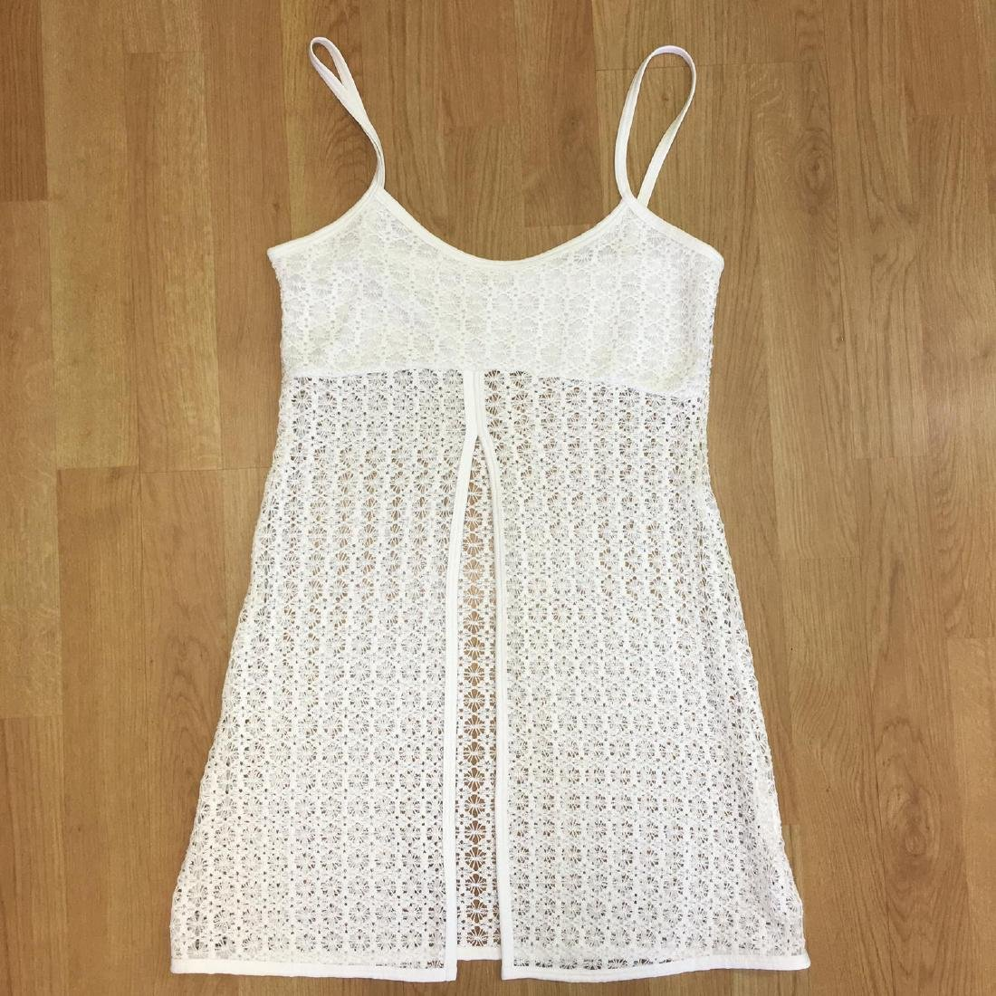 Vintage Women's White Crochet Shirt Blouse Top Size XS - 5