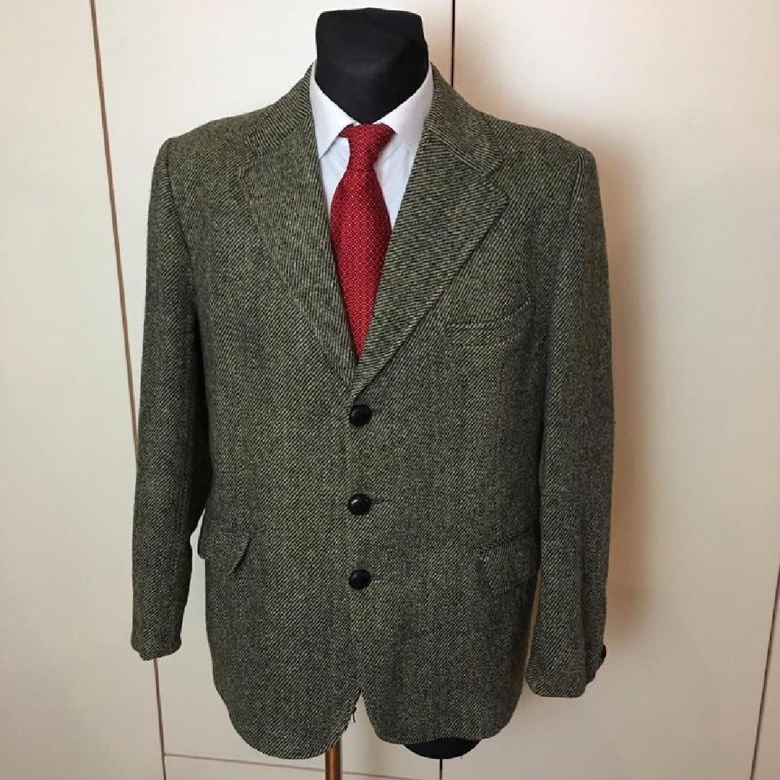 Men's Harris Tweed Handwoven Wool Blazer Jacket Size 50