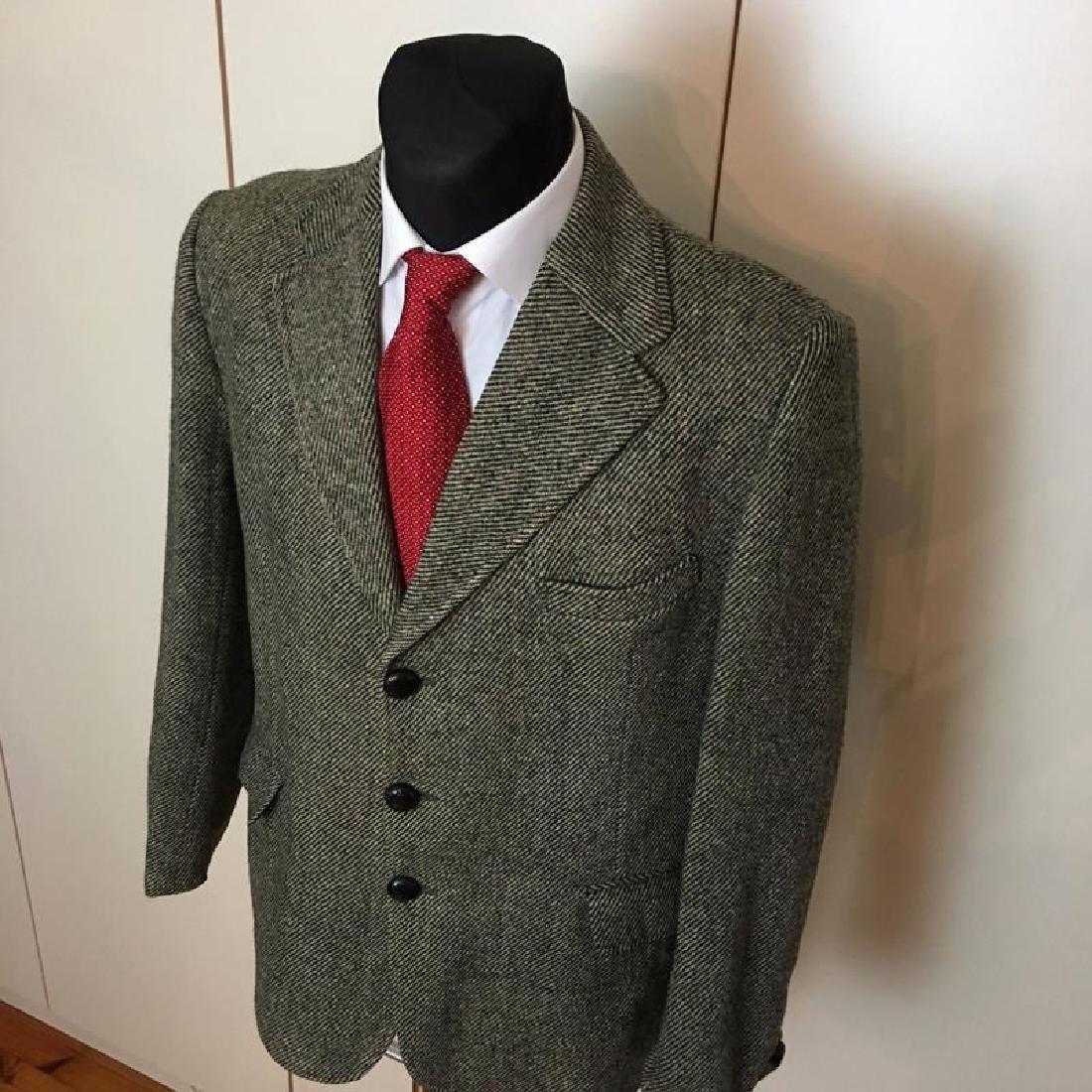 Men's Harris Tweed Handwoven Wool Blazer Jacket Size 50 - 2