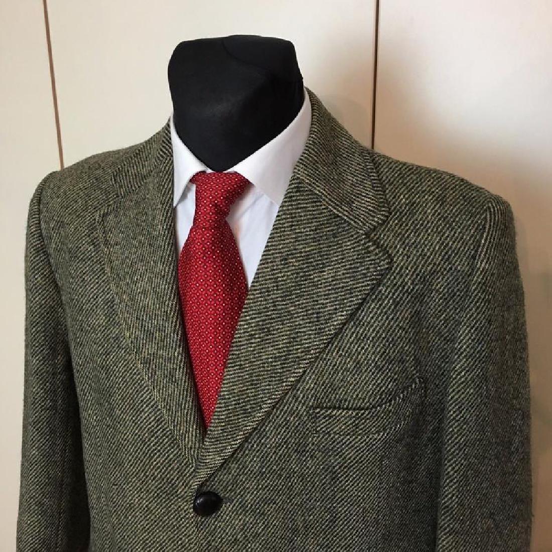 Men's Harris Tweed Handwoven Wool Blazer Jacket Size 50 - 3