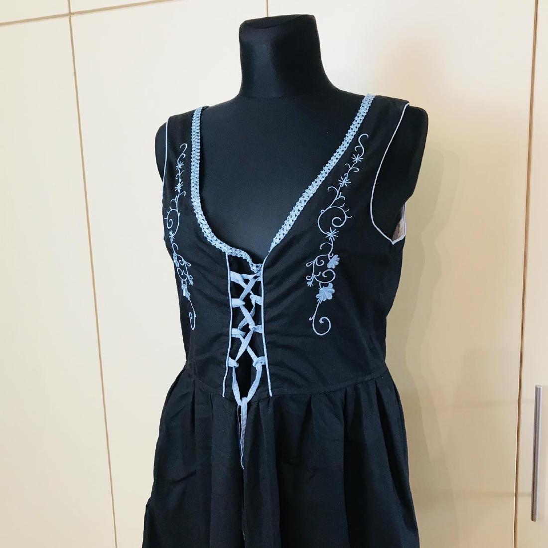 Vintage Women's Black Tyrolean Drindl Dress Size US 16 - 2