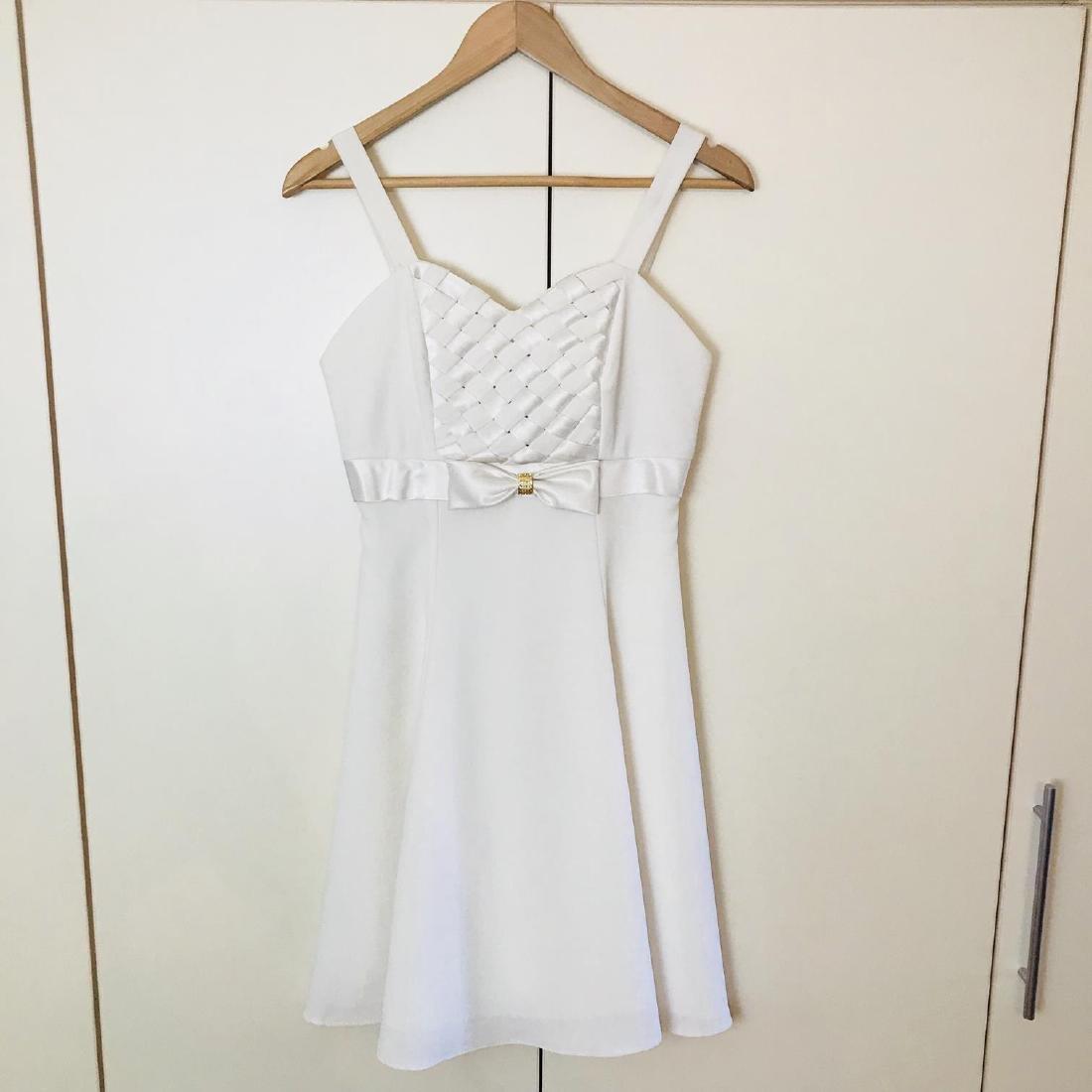 Vintage Women's White Designer Dress Size US 8 EUR 38 - 2