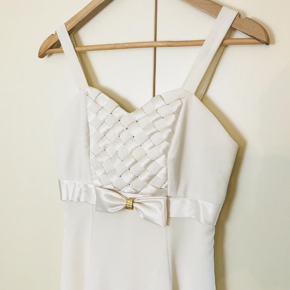 Vintage Women's White Designer Dress Size US 8 EUR 38 - 3
