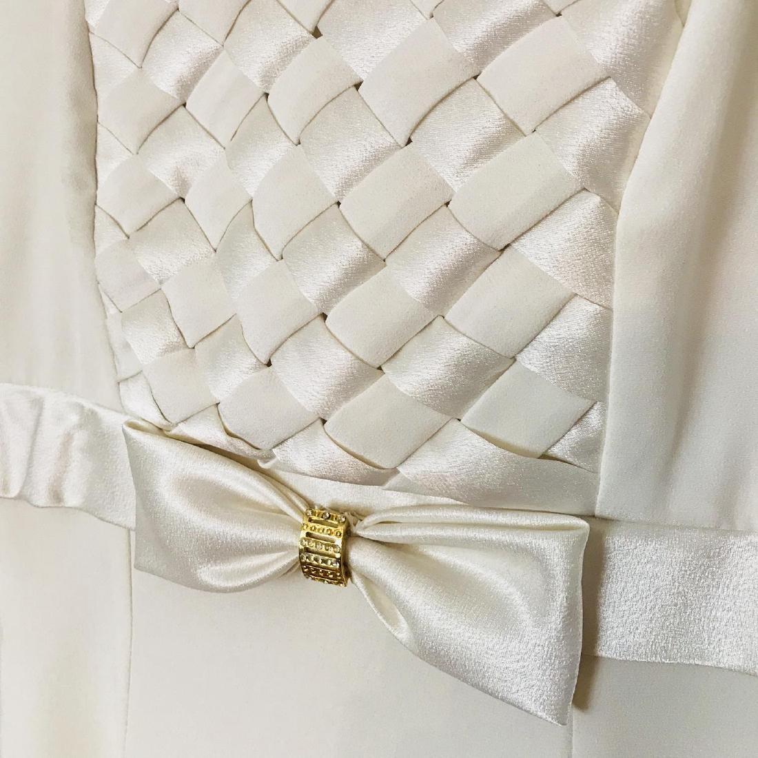 Vintage Women's White Designer Dress Size US 8 EUR 38 - 4