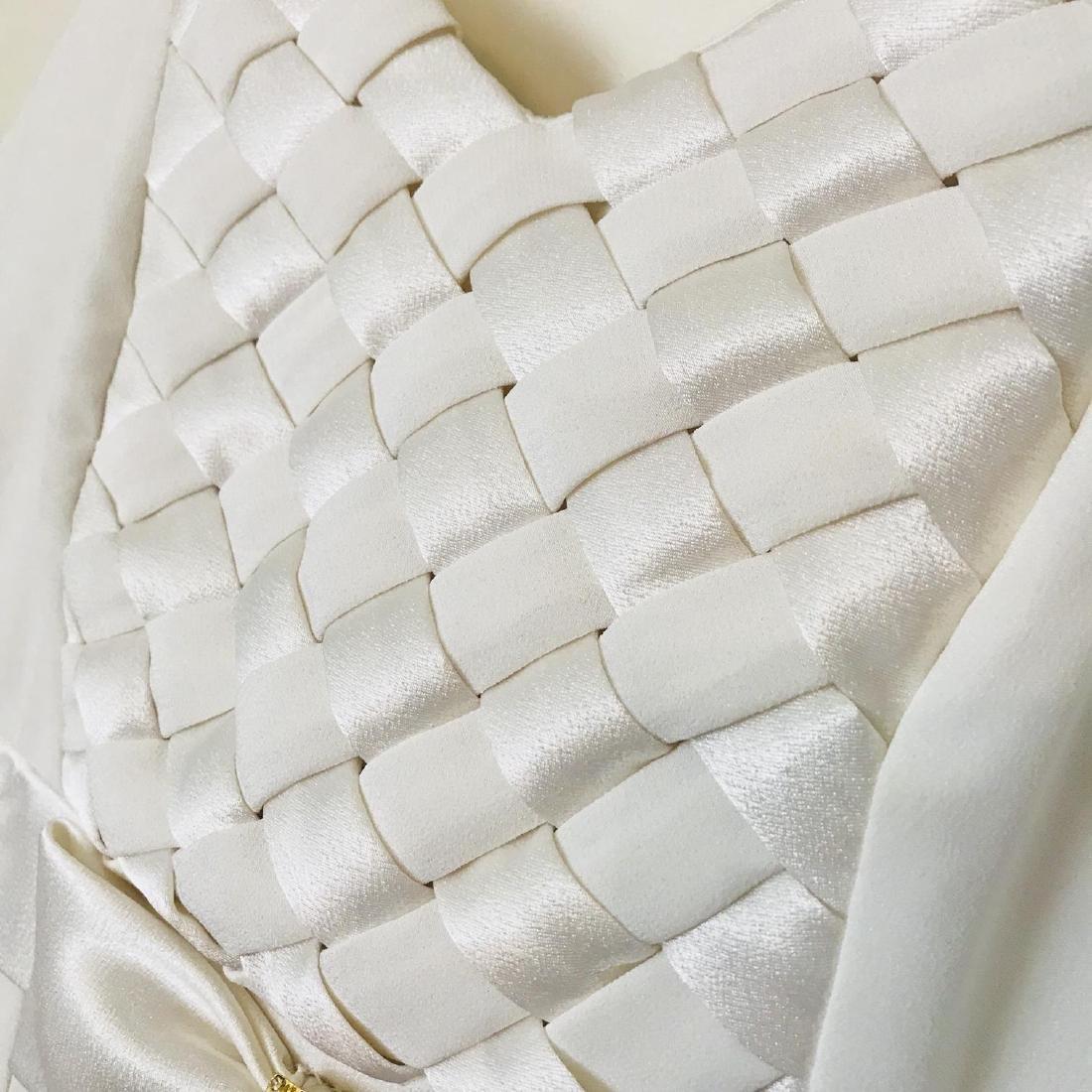 Vintage Women's White Designer Dress Size US 8 EUR 38 - 6