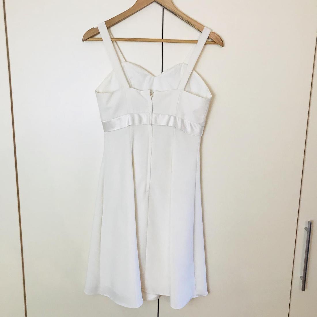Vintage Women's White Designer Dress Size US 8 EUR 38 - 7
