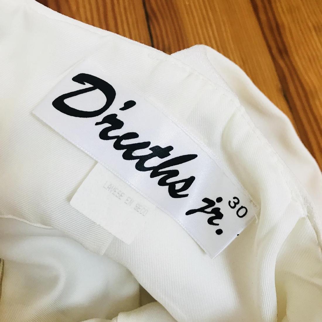 Vintage Women's White Designer Dress Size US 8 EUR 38 - 9