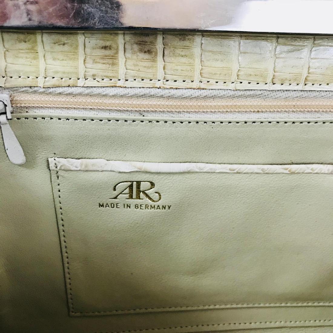 Vintage Beige Crocodile Leather Clutch Bag - 8