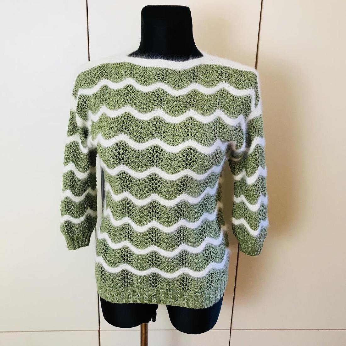 Vintage Women's Green Sweater Size EUR 38 US 8