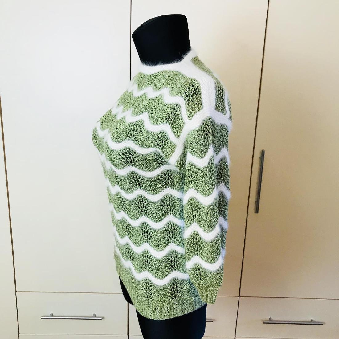 Vintage Women's Green Sweater Size EUR 38 US 8 - 4